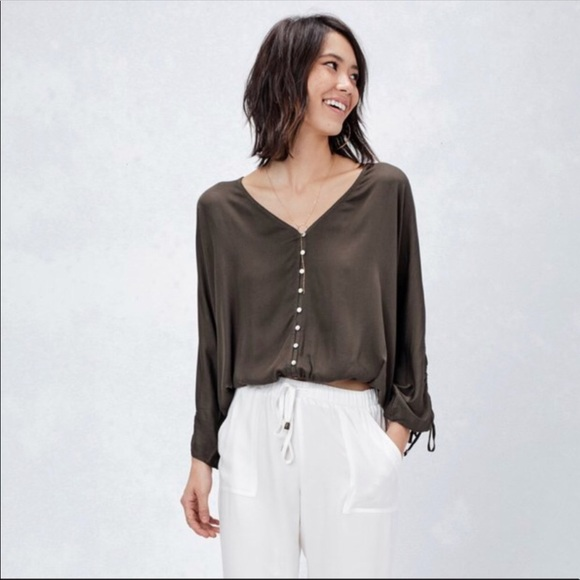 cb2963433d6 Lovestitch Olive Green top